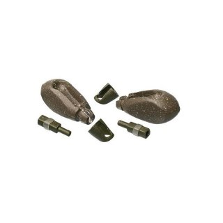 Angletec Tapered Pear Dynamic Lead System Pack Green oder Brown, Blei, 2 Stück, 3 oz., 85 g