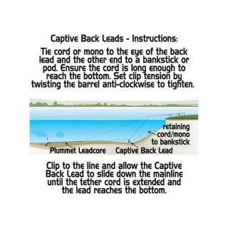 GARDNER LIGHTWEIGHT CAPTIVE BACK LEADS, 44 g, 2er Pack, green oder sand
