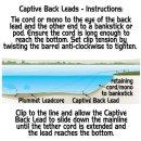 GARDNER CAPTIVE BACK LEADS 2er Pack, 61 g, green oder sand