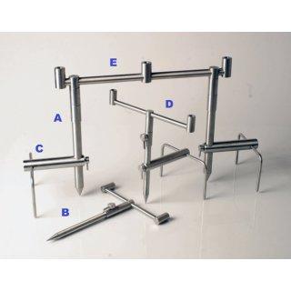Reuben Heaton Edelstahl 2er Set Snag Bar  16 mm für 2,3 oder 4 Ruten