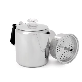 GSI Edelstahl Kaffeekanne Stovetop Kaffeemaschine , 6 Tassen