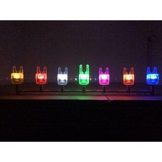 3er Set Crystal ATTs IW Underlit Funkbissanzeiger inkl. Crystal Deluxe Receiver, verschiedene Farben