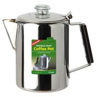 Coghlans Edelstahlkanne Coffee Pot  - Kaffeemaschine , 9 oder 12 Tassen
