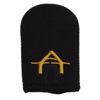 ATTs NEOPRENE CASE PROTECTIVE CASE, Schutzhülle für ATTs Bissanzeiger mit goldfarbigen gesticktem ATT Logo