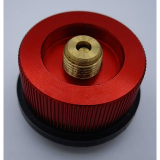 Gaskartuschen Adapter von Steck Ventil- Gaskartusche auf Schraub Ventil Leitung für Gaskocher Butangas, Propangas, Isobutangas und Gasgemische