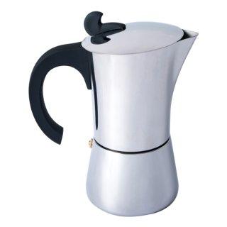 Basic Nature Espresso Maker Edelstahl Kaffeemaschine VA, 9 Tassen