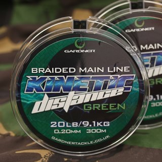 Gardner Tackle Kinetic Distance Braid 300 m, 20 lb. 0,20 mm