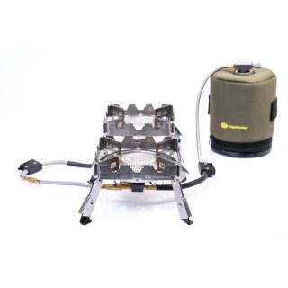 RidgeMonkey Quad Connect Stove Pro Portable Dual Stove System, Gaskocher, Kocher 2 flammig