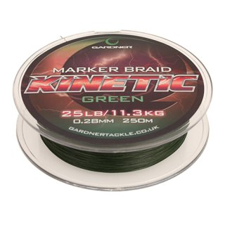 GARDNER TACKLE KINETIC MARKER BRAID 25 lb. , 0.28 mm   Mainline, Hauptschnur