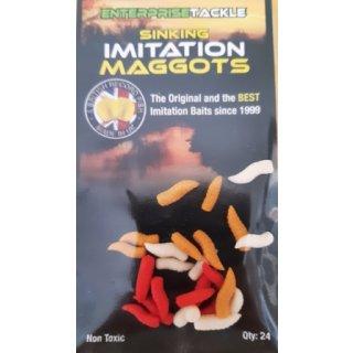 Enterprise Tackle ET IMITATION SINKING MAGGOTS MIXED COLOURS  , Maden