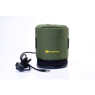RidgeMonkey Eco Power Heated Gas Canister Cover, Gas Kartuschen Heizhülle