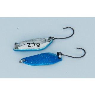 Paladin Trout Spoon I Forellen Blinker Löffel, 2,1 g Farbe türkis-glitter, silber