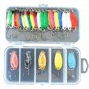 Major Fish XL Trout Spoon Set Blinker Box Forelle 25...