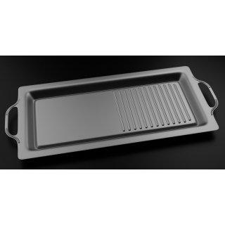 RidgeMonkey Grilla BBQ Hotplate, Kochplatte für Edelstahl Gas Grill faltbar