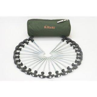 B.Richi T-Pegs 20 cm - 25er Pack + Tasche