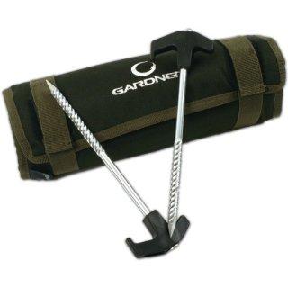 GARDNER BIVVY PEGS WITH POUCH, T-Pegs, Zelthäringe 10 Stück mit Tasche