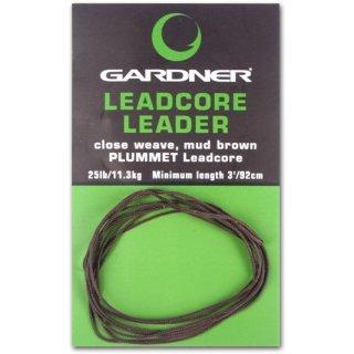 GARDNER LEADCORE LEADERS 25 LB (11,3 kg), 3 Farben & 2 Längen wählbar